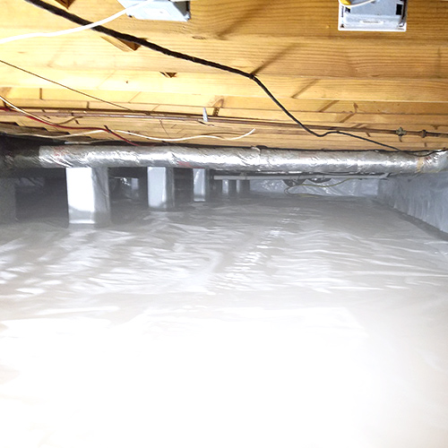 Crawl Space with Covered Columns